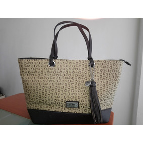 Bolsa Guess Tipo Tote Color Cafe