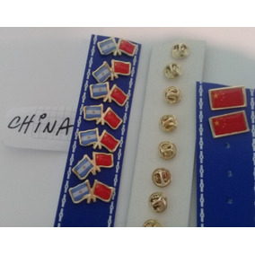 Pins Bandera China Dos Modelos De 2 Cms
