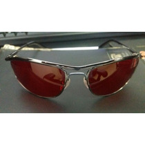 Óculos Rayban 8012 Modelo Demolidor Com Lentes Vermelhas.