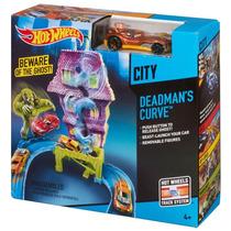 Set Hot Wheels Pista Lanzador Con Auto Curva Extrema!!!
