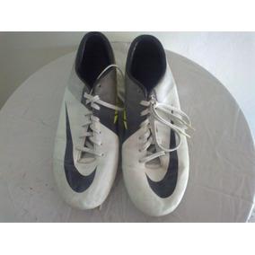Tacos De Futbol Nike Mercurial Blanco