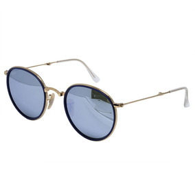 Oculos Sol Ray Ban Rayban Round Dobrável Lente Rose - Óculos no ... 0b6a6444f827