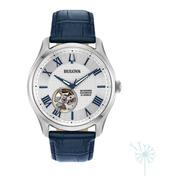96a206 Reloj Bulova Wilton Automatico Para Caballero Azul