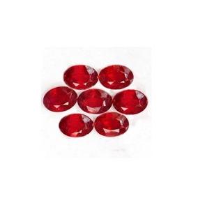 Rubis Naturais De 2.44 Cts**7 Unid(4.7x3.6mm A 4.7x3.8mm)
