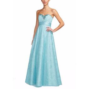Vestido De Madrinha Azul Tiffany 38 48 - Plus Size - Vf00019