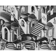Poster Grande M C Escher 60x75cm Concavo C. Enfeite Pra Sala