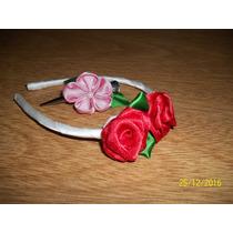 Vincha Con Flores De Tela