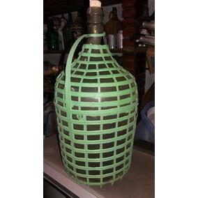 Garrafão Antigo Vidro Verde