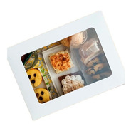 Caja Para Desayuno C/visor 33 X 23 X 9 Cm Blanca Pack X10 U.