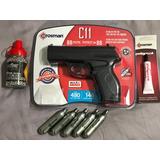 Crosman Pistola C11 + 5 Co2 + Aceite + 1500 Bbs Posta