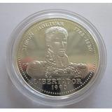 Moneda Conmemorativa Cuba 10 Pesos 1990 - Simón Bolívar