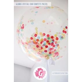 globos transparente cristal c confetti personalizado helio
