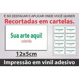 60 Adesivos Etiquetas Personalizadas 12x5cm Tonsecores