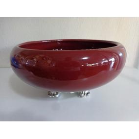 Vaso Em Cerâmica Esmaltada Cachepot Marsala 30 Cm