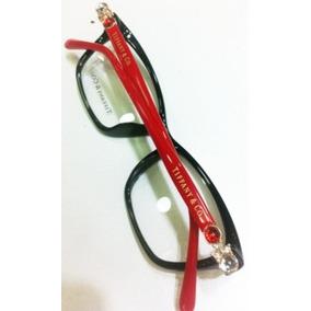 ce7794cedee0d Armação Oculos De Grau Tiffany   Co Acetato Vermelha E Preto