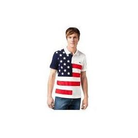 Camisa Camiseta Polo Lacoste Masculina Bandeira Lançamento