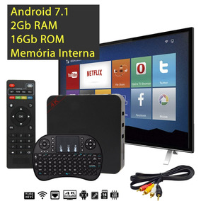 Kit Tv Box Smart + Teclado 2gb Ram 16gb Rom Cabo Rca Tv Tubo