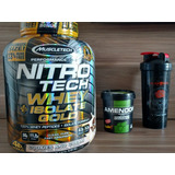 Whey Gold Nitrotech 100% Isolate Muscletech 4lbs + Brinde