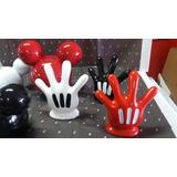 Kit 3 Pç Luvas Mãos Cabeças Mickey Minnie Festa Decoração