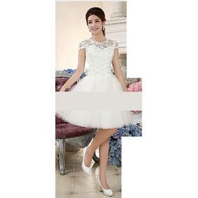 Vestido Noiva Curto Princesa - Pronta Entrega