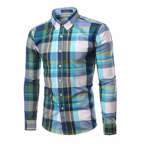 Camisa Masculino Xadrez Manga Longa Lançamento 2017