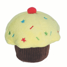 Brinquedos Para Pet - Pelúcia Fun - Cupcake - Amarelo - Pet