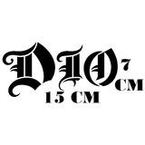 Adesivo Banda Dio Holy Diver Heavy Metal C/ Frete Grátis