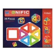 Magneticos Bloques Magnific Imanes 30 Piezas Formas Educando