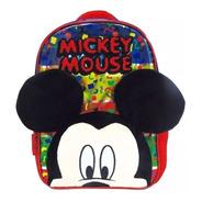 Mochila Mickey 3d Jardin 12 Pulgadas Original