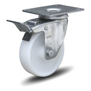 4 Roda Inox Giratório 3 Pol C/ Freio Capacid 150kg