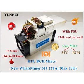 Whatsminer M3 12-13th/s (antminer S9), Minero Asic Btc Bch