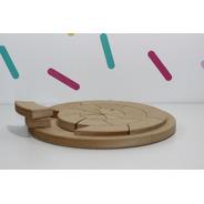 Mandala Circular Encastre Madera  Didáctico Montessori