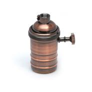 1 Portalampara Metalico Vintage Retro + 1 Lampara Filamento