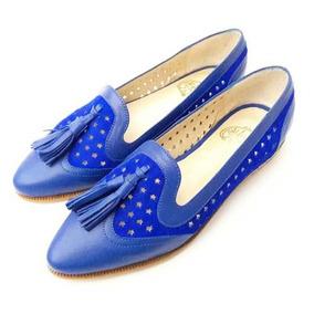 Mocasín Alfonsina Fal Azul