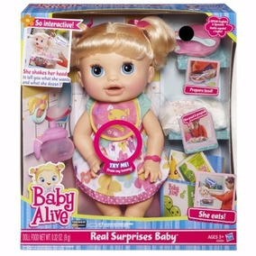 Boneca Baby Alive Comer E Brincar Loira Lacrada 12x S/ Juros
