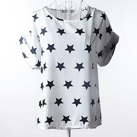 Bellas Blusa Estampada Fashion De Chifon Tallas L, Xl Y Xxl.