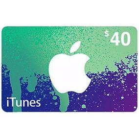 Cartão Itunes Gift Card $40 Dólares - Contas Americanas