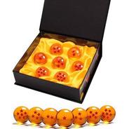 Set 7 Esferas Del Dragón 3.5cm - Estrellas 3 D + Exhibidor