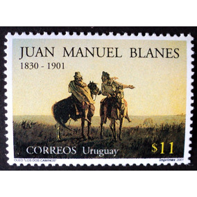 Osl Sello 1957 Mint Uruguay Caballo Pintor Juan Blanes