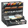 Balck mesh pen holder with drawer