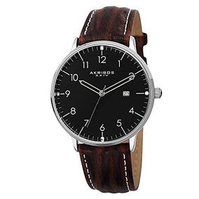 Akribos Xxiv Hombre Ak715ssb Retro Reloj De Acero Inoxi...