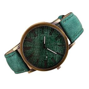 Vesniba Retro Vogue Reloj De Pulsera De Cuero Vaquero De Ba