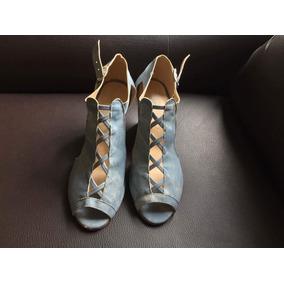 Zapatos Bonitos Azules Seminuevos!!
