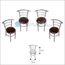Set 4 Sillas Para Restaurante Bar Cageteria Cocina Terraza C