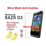 Motorola Razr D3 Mica + Instalacion + Paño Limpiador