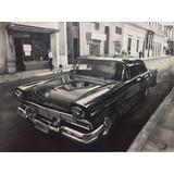 Pintura Óleo Sobre Lienzo Auto Antiguo Cubano Estilo Realist