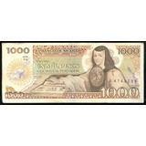 Billete De Mexico Año 19-07-1985 Juana De Asbaje 1000 Pesos
