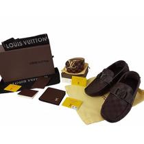 Mocasin Louis Vuitton + Cinturon + Cartera Con Envio Gratis
