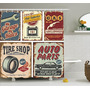1950 Ambesonne Decor Collection, Coches Carteles De Chapa P