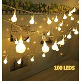 100 Led Luces De La Secuencia De Los Globos De Bolas, Luz D